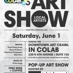COLAB art show June & July