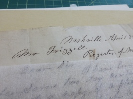 Early 1800s Document Mending