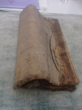 Rolled Document before Soot removal
